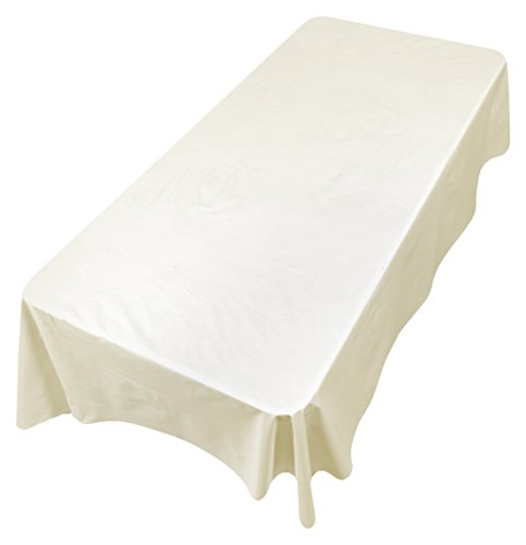 (Carnation Home Fashions SFLN-108/08 Vinyl Tablecloth with Polyester Flannel Backing, 52