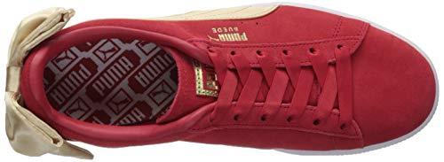 PUMA Suede Red Bow Ribbon Sneaker Gold metallic Varsity Women's raRqBxr