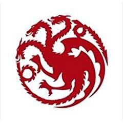 [Game Of Thrones Inspired House Of Targaryen Logo Dragons Vinyl Decal Sticker |RED|Cars Trucks SUV Laptop Wall Art|5