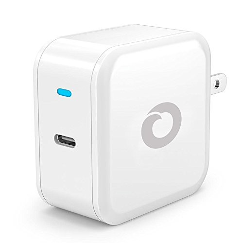 USB-C Power Delivery Wall Charger, 30W Adapter for Apple MacBook Pro, Nintendo Switch/3DS, Google Pixel 2/XL, Nexus 6P/5X, Huawei Honor 10/P20 Pro, OnePlus 6/5T and more - White (New Nokia 2 Battery Oem)