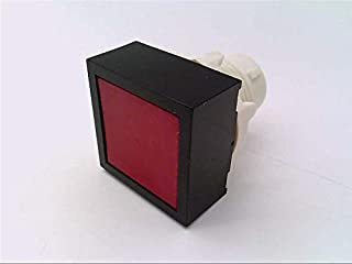 product image for CLIPPARD PQ-P2F-R Push Button, RED, MOMENTARY, Extended Square Head