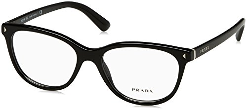 Prada JOURNAL PR14RV Eyeglass Frames 1AB1O1-52 - Black - Glasses Prada Journal