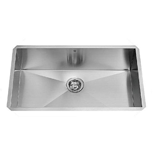 Vigo 32 inch undermount single bowl 16 gauge stainless for 2 kitchen ct edison nj