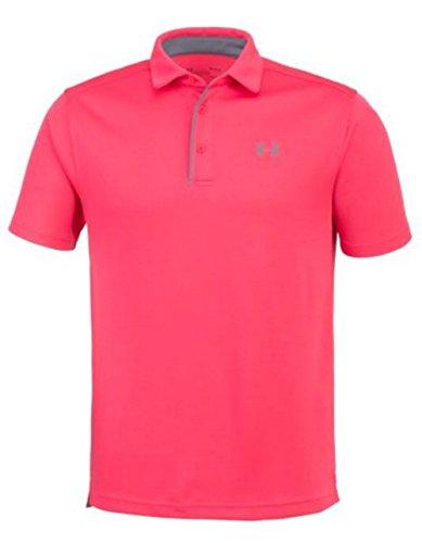 Under Armour UA Men's Tech Ribbed Golf Polo Shirt 1290140 (Pink, ()