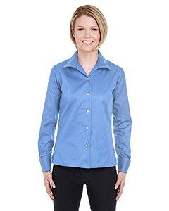 Ultraclub Ladies Whisper Twill Shirt - UltraClub 8992 Ladies Whisper Elite Twill Shirt - Waterfall Blue, Small