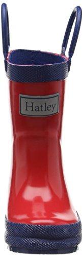 Hatley  Rainboots -Crazy Chameleons,  Jungen Arbeits-Gummistiefel Mehrfarbig (Red)