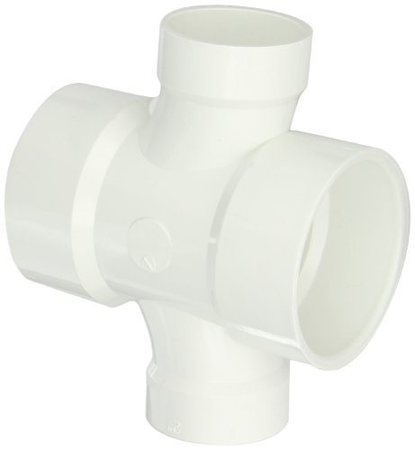 (Spears P429 Series PVC DWV Pipe Fitting, Reducing Double Sanitary Tee, 3