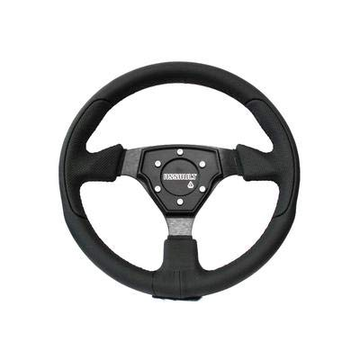 Assault Industries 100005SW0101 Black Stitch Tomahawk Steering Wheel with Billet Front Plate