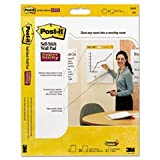 * Self-Stick Wall Easel Unruled Pad, 20 x 23, White, 20 Sheets/Pad, 4 Pads/Carton *