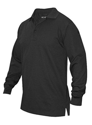 TRU-SPEC Men's 24-7 Series Long Sleeve Polo Shirt, Black, 3X-Large