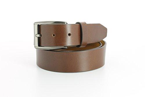 Remo Tulliani Men's 35mm Wide Romeo Italian Calfskin Leather Dress Belt (Tulliani Calfskin Belt)