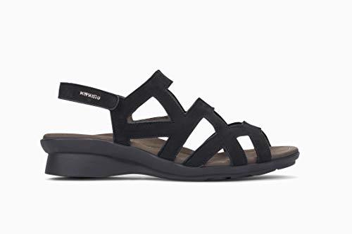 Mephisto Nubuck Sandals - Mephisto Women's Pamela Sandals Black Nubuck 8 M US