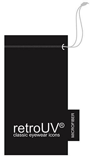 retroUV® - Flat Revo Couleur Objectif Grande Corne Cerclées Style Lunettes de Soleil Comprend Pouch - UV400 Wayfarer / Rouge / Teinte
