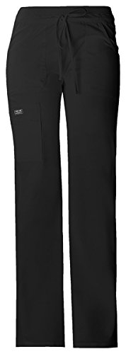 Cherokee Women's Knit Waistband Drawstring Cargo Pant_Black_XX-Small,24001