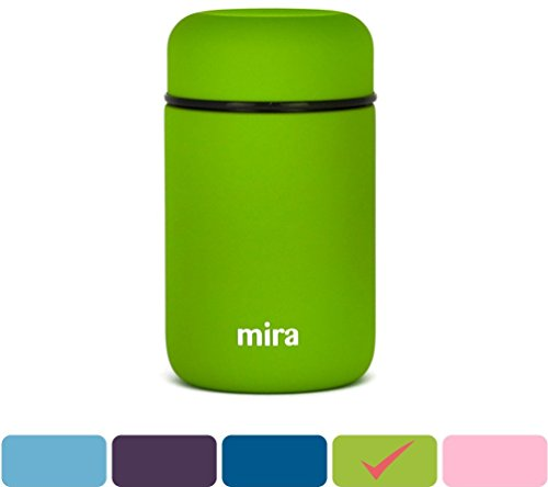 MIRA Lunch, Food Jar, pressure Insulated Stainless precious metal Lunch Thermos, 13.5 Oz, Cactus Green