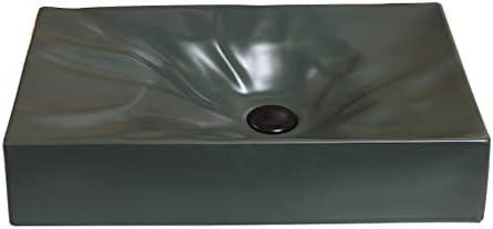 WJ 洗面台 バスルームの洗面台、家庭セラミックマットカウンタ(タップ無し)流域矩形バニティ単一流域、利用可能な2つのサイズ /-/ (Size : 56X35.5X12cm)