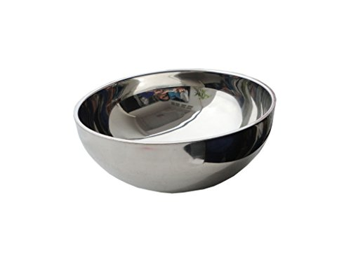 [Stainless Steel Dual Angle Doublewall Serving Bowl. Daimeter 18 cm., silver colour (Pack of 5).] (Hot Dog On A Stick Costumes)
