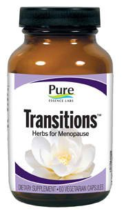 Pure Essence Labs - Transitions - Herbs for Menopause - 60 Capsules