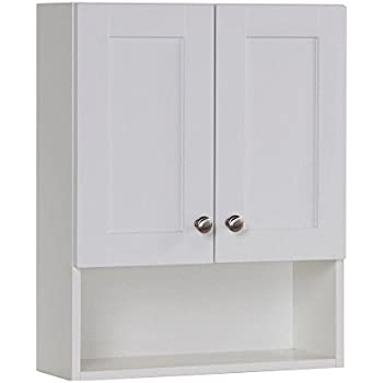 This Item Glacier Bay Del Mar 20 1 2 In W X 25 3 5 In H X 7 1 2 In D Over The Toilet Bathroom Storage Wall Cabinet In White