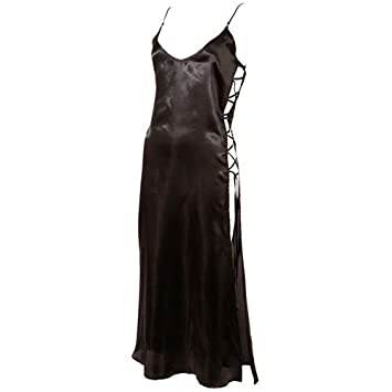 8b732518ffdd5 Cottelli Collection Small/Medium Black Chemise Long Negligee: Amazon.co.uk:  Health & Personal Care