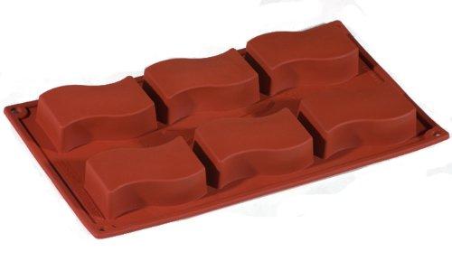 TableTop King Flexible Silicone Non-Stick Bakeware Wavy Rectangle Mold 3.15