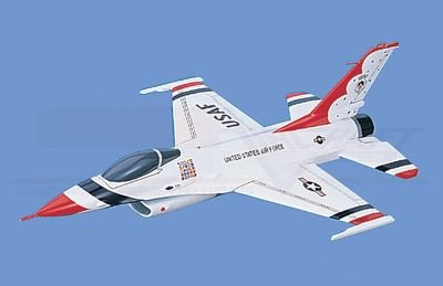"F-16A   Falcon - USAF ,""Thunderbirds""  Aircraft Model Mahogany Display Model / Toy. Scale: 1/34"