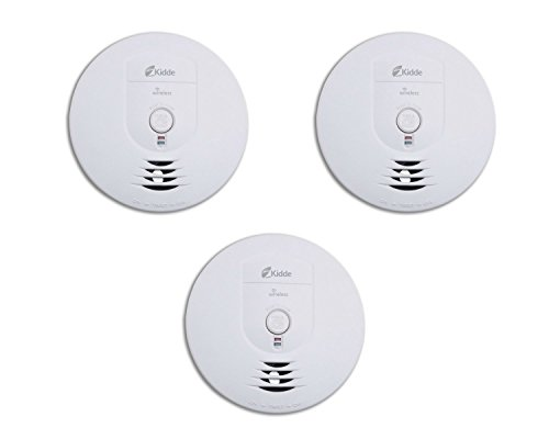 Kidde RF-SM-DC Wireless Interconnect Battery-Operated Smoke Alarm - Pack of 3 ()
