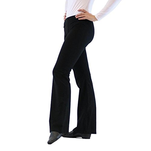 Danzcue Adult Jazz Pants (Small, Black)