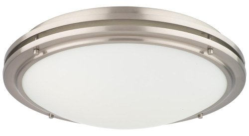 Forecast Lighting F2452-36U West End Two-Light Energy Efficient Flushmount with Etched White Glass, Satin Nickel