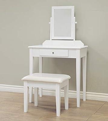 Frenchi Home Furnishing 2 Piece Home Furnishing Stool Set & Vanity from Frenchi Home Furnishing