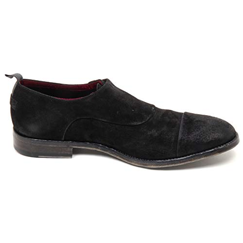 Man Fibbia Scarpe Uomo Scarpa E8914 Effect Barracuda Vintage Black Nero Shoe C6xHn