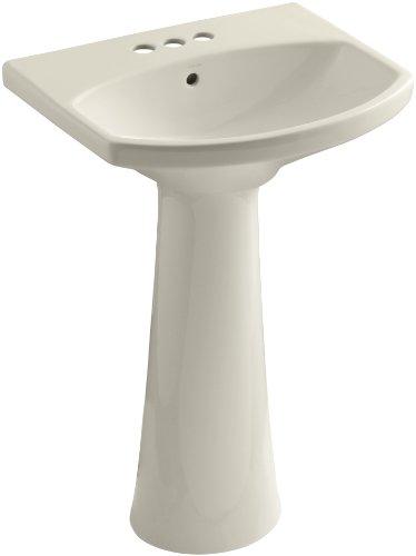 KOHLER K-2362-4-47 Cimarron Pedestal Bathroom Sink with 4