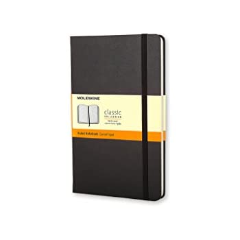 Moleskine Classic Notebook, Large, Ruled, Black, Hard Cover (5 x 8.25) (Classic Notebooks)