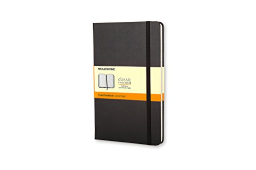 Moleskine Classic Hard Cover Notebook, Ruled, Large (5