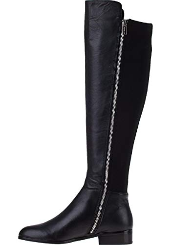 Michael Kors Womens Bromley Flat Boot Leather Closed Toe Over, Black, Size 11.0 ()