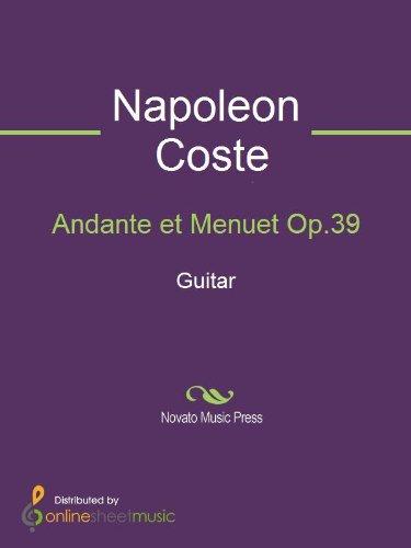 Andante Book Guitar Music - Andante et Menuet Op.39 - Guitar