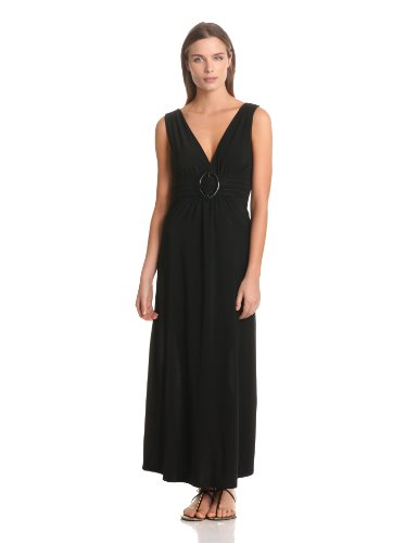 Star Vixen Women's Sleeveless O-Ring Maxi, Black Solid, Large ()