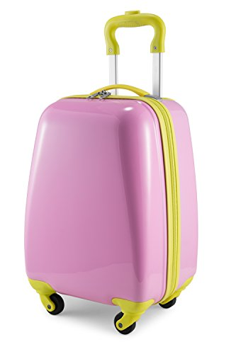 (Hauptstadtkoffer Kids Luggage Children's Luggage Suitcase Hard-Side Glossy Multicoloured Pink)