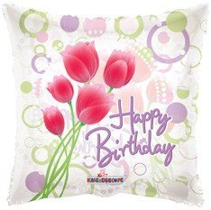 ppy Birthday - Tulips Clear View (1 Ct) ()