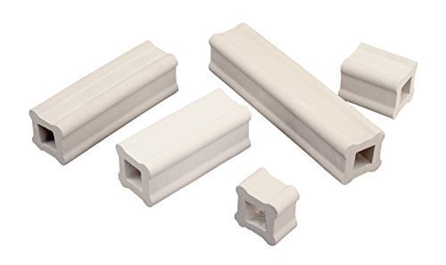 Kiln Clay Art (AMACO Durable Strong Shelf Support, 1 X 1 X 4 in, White, Pack of 12)