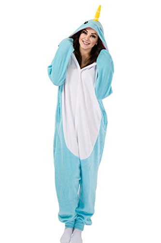 Narwhal Unicorn Costume (XMiniLife Adult Costume Pajamas (S, Narwhal))