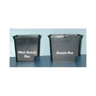 """Grodan Dutch Pot with 2 elbows Black - 9""""x12""""x10"""": Garden & Outdoor"""