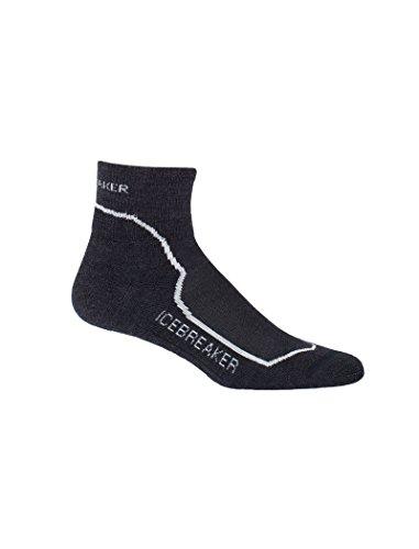 (Icebreaker Womens Hike+ Light Mini Socks; Jet HTHR/Snow/Black - Size: S)
