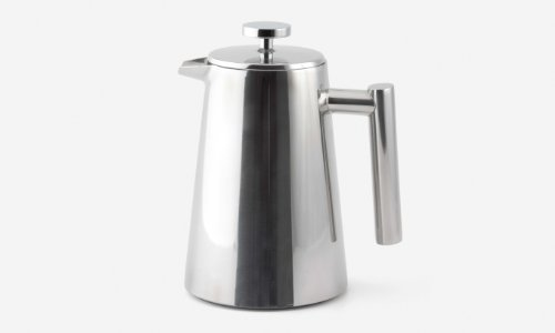 Polished Stainless French Press Coffee Maker, 12-ounce