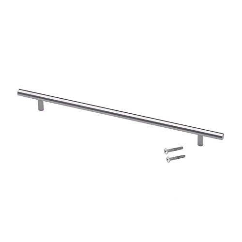 "Modket M1601-288-BSN-10 Solid Brushed Nickel T Bar Pull Handle - 11-3/8"" (288mm) Hole Centers, 14"" Overall Length - 10 Pack"