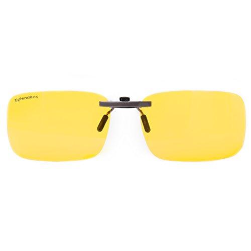 Splendenti Eyewear: Computer Eyeglass Clips - Blue Light, UV & Digital Eyestrain Protection - Unisex -