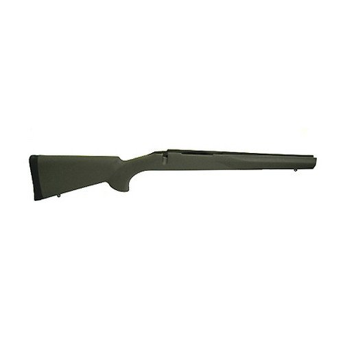 Hogue 15202 Rubber OverMolded Stock for Howa 1500/Weatherby, Short Action, Standard Full Length Bed, BB, OD Green