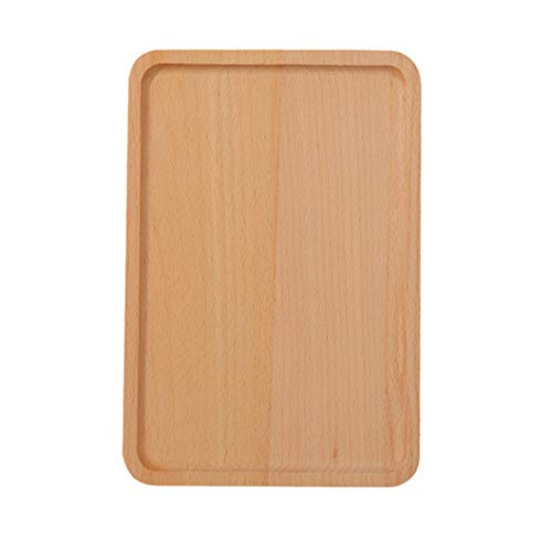 Practical Cutlery Restaurant Round Corners Serving Tray Kitchen Beechwood Tableware Dessert Dinner Plate - Cutlery Tray Beechwood
