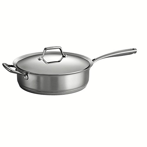 Tramontina Gourmet Prima 18/10 Stainless Steel Tri-Ply Base 5-Quart Covered Deep Saute Pan by Tramontina
