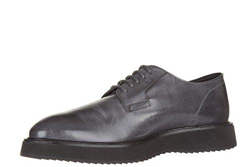 Hogan chaussures à lacets classiques homme en cuir h271 derby route gris